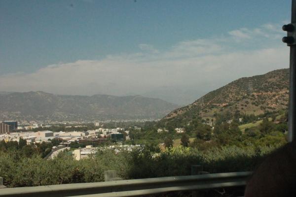 Studios vistos de cima, e claro, uma bela vista de LA.